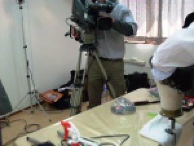 技術教育用DVD撮影風景